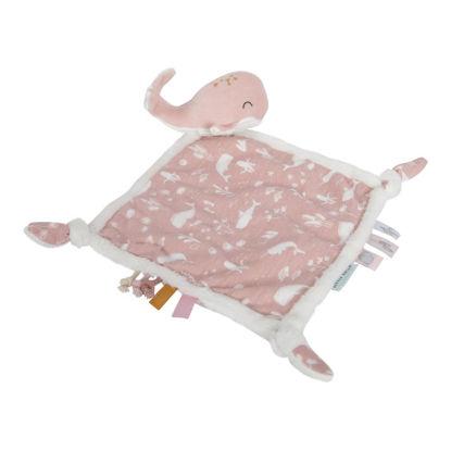 Kuscheltuch Wal - Ocean pink