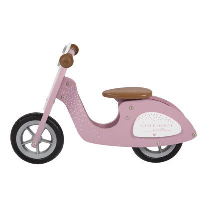 Holz Laufrad Roller - pink