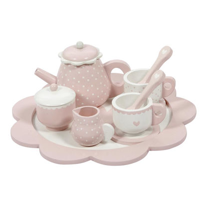 Holz-Tee-Set - pink