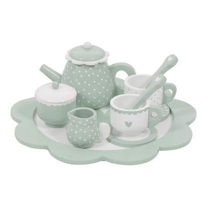 Holz-Tee-Set - mint