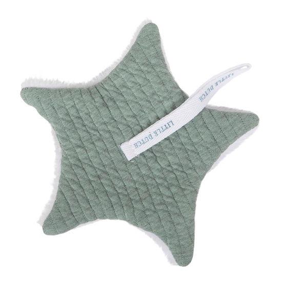 Baby Stern-Schnullertuch  - Pure Mint