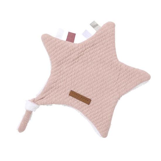 Kuscheltuch Stern - Pure Pink