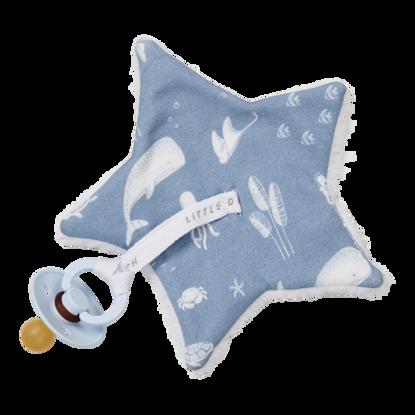 Baby Stern-Schnullertuch  - Ocean Blue