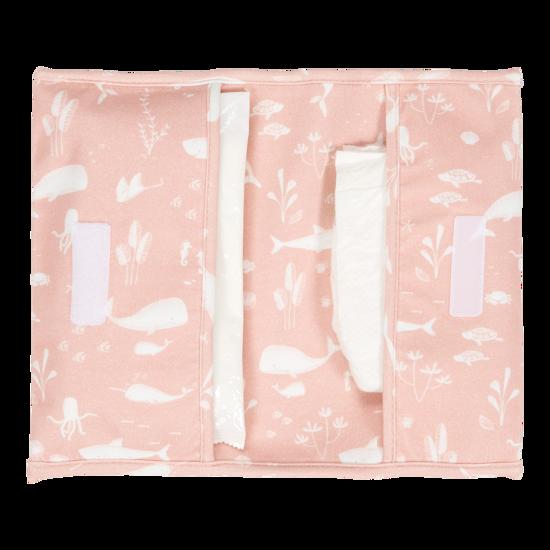 Reisetasche für Windeln & Feuchttücher  - Ocean Pink