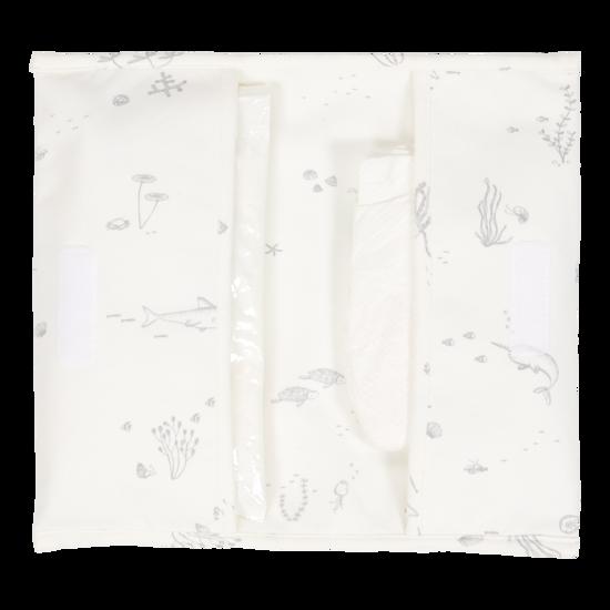 Reisetasche für Windeln & Feuchttücher  - Ocean White