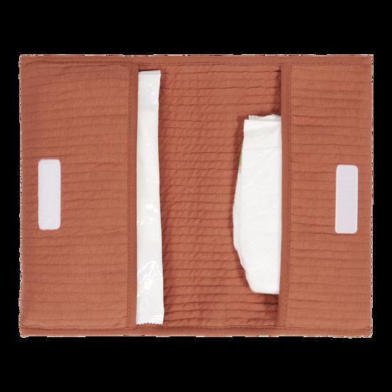 Reisetasche für Windeln & Feuchttücher  - Pure Rust