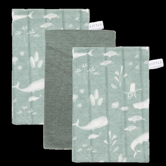 Softe Baby-Waschlappen  - Ocean Mint