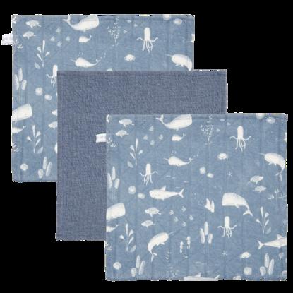 Baby Mulltücher  - Ocean Blue / Pure Blue