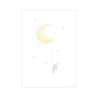 Bild von Poster A3 - Mond mit Hase