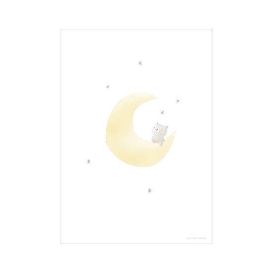 Bild von Poster A3 - Mond mit Bär