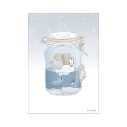 Bild von Poster A3 Eisbär
