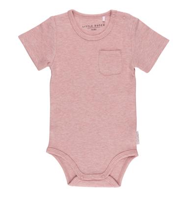 Bild von Body kurzen Ärmeln melange rosa - 74/80