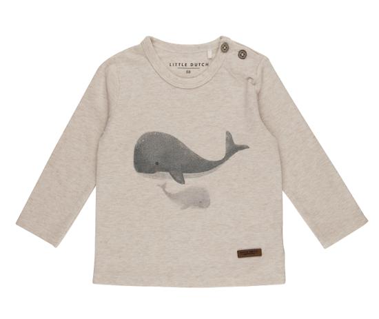 Bild von Tshirt langen Ärmeln Wal - ocean - 68