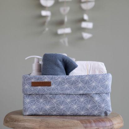 Bild von Baby Aufbewahrungsbox, gross - Lily Leaves Blue