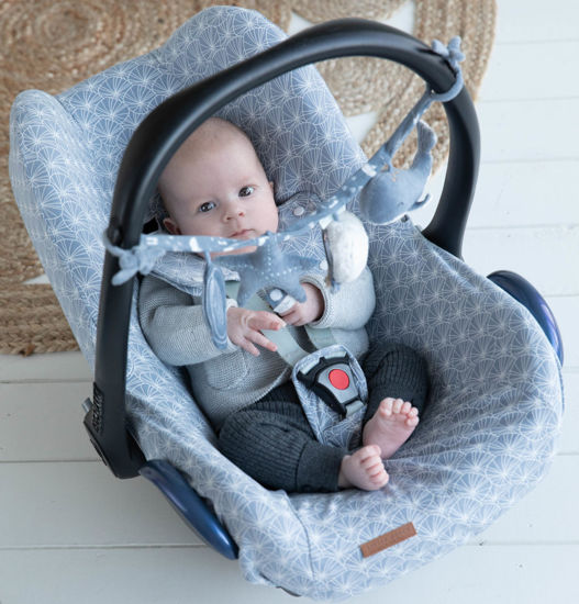 Bild von Babyschalenbezug  0+ - Lily Leaves Blue