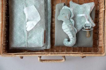 Bild von Baby Stern-Schnullertuch  - Lily Leaves Mint
