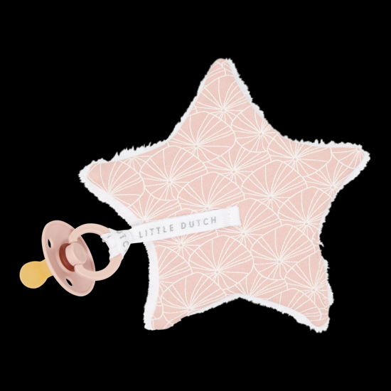 Bild von Baby Stern-Schnullertuch  - Lily Leaves Pink