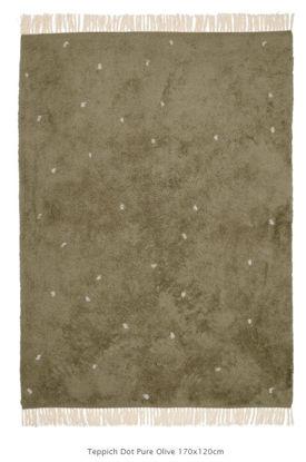 Bild von Teppich Pure olive dot 170x120cm